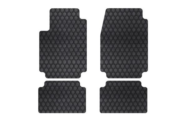 free floating hexomat floor mat set in black