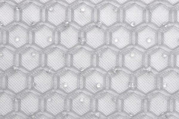 intro tech automotive clear hexomat floor mats pattern detail