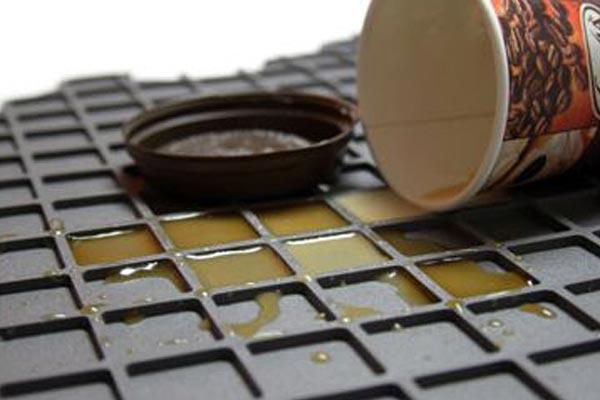 introtech flexomat floor mat coffee spill