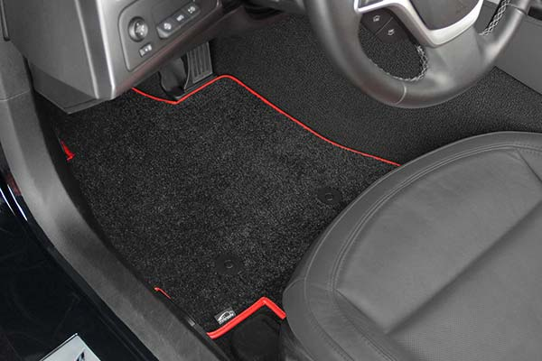 lloyd mats ultimat custom floor mats hero ebony redtrim driver2
