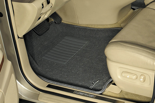 maxpider classic carpet floor mats front gray installed