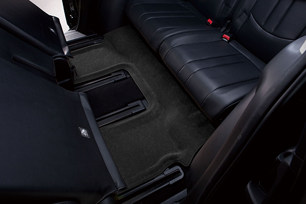 maxpider classic carpet floor mats rear black one piece