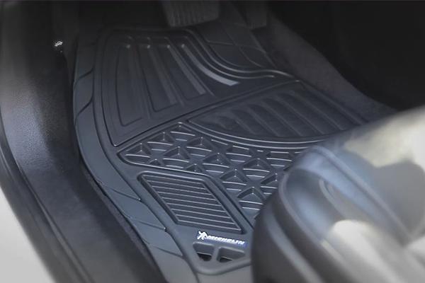 michelin heavy duty floor mats grey installed