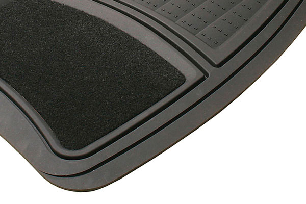 michelin rubber carpeted floor mats black