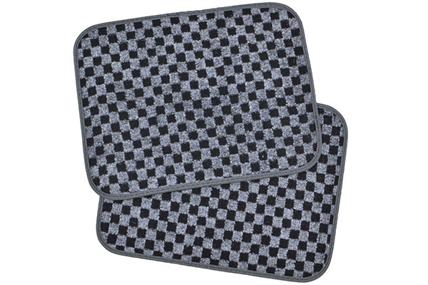 motor trend checkered carpet floor mats rear mats