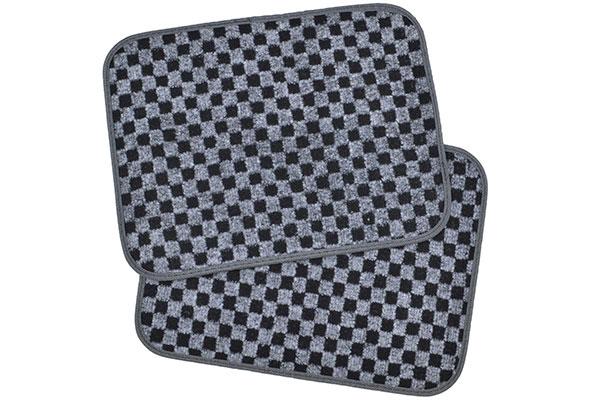 motor trend checkered carpet floor mats rear mats