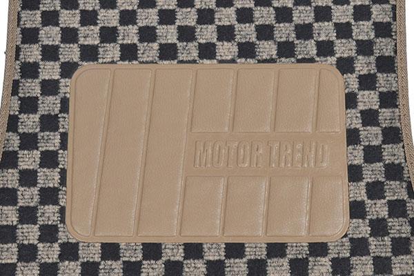 motor trend checkered carpet floor mats step pad