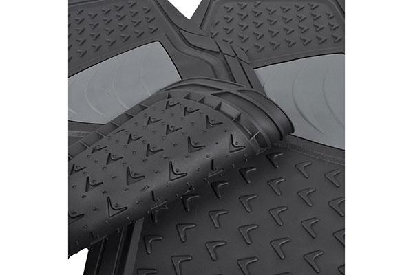 motor trend heavy duty rubber floor mats non slip back