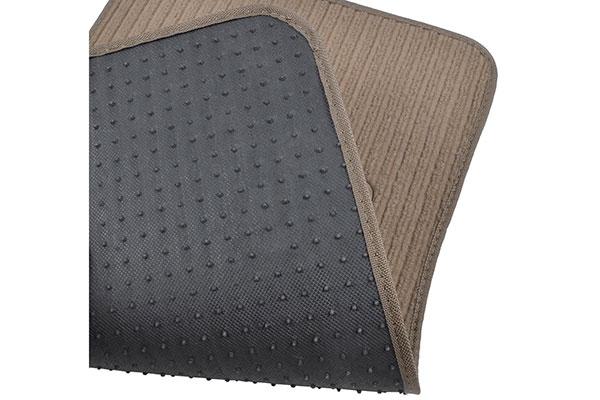 motor trend ribbed carpet floor mats rubber back