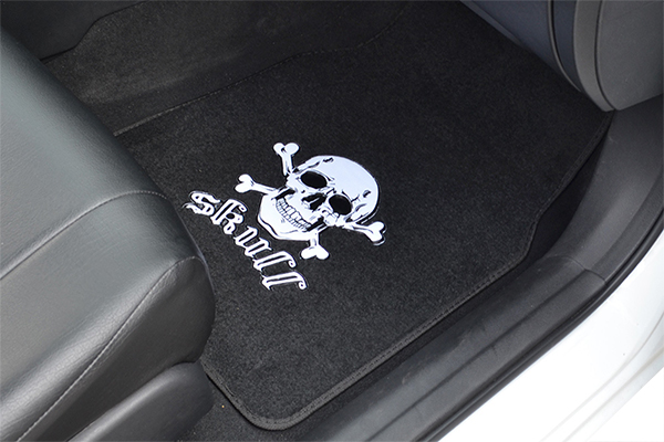 proz novelty carpet floor mats skull installed
