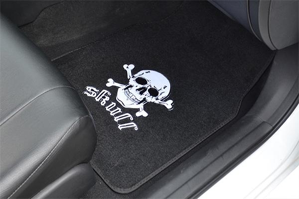 proz novelty carpet floor mats skull installed