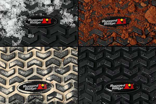 rugged ridge all terrain floor mats collage