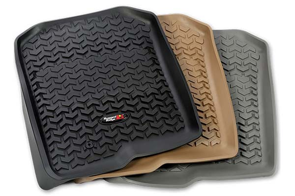 rugged ridge all terrain floor mats colors
