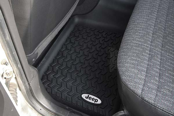 rugged ridge all terrain floor mats installed1