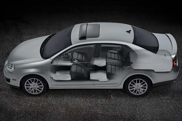 Depending on the type of vehicle you drive, the rear floor mat may come in a one or two piece design