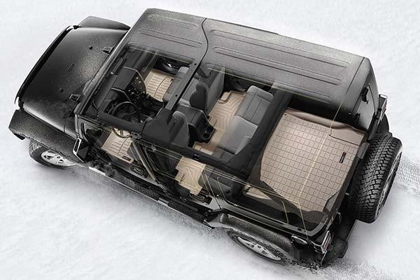 Visualize what DigitalFit Floor Liners look like installed in Jeep Wrangler