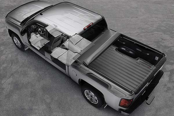 Visualize what a set of WeatherTech DigitalFit Liners would look like installed in your truck