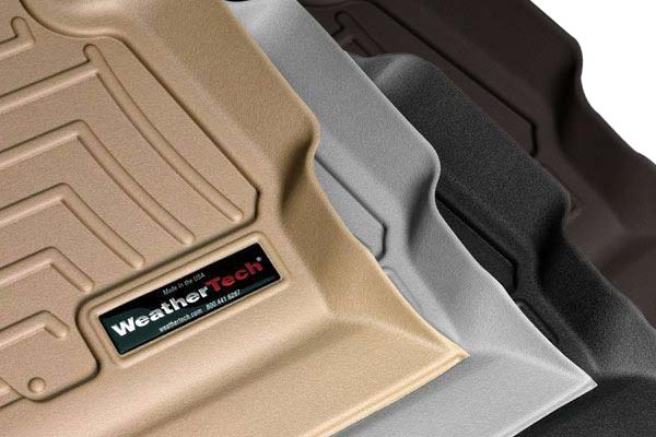 weathertech liner assortment of available colors