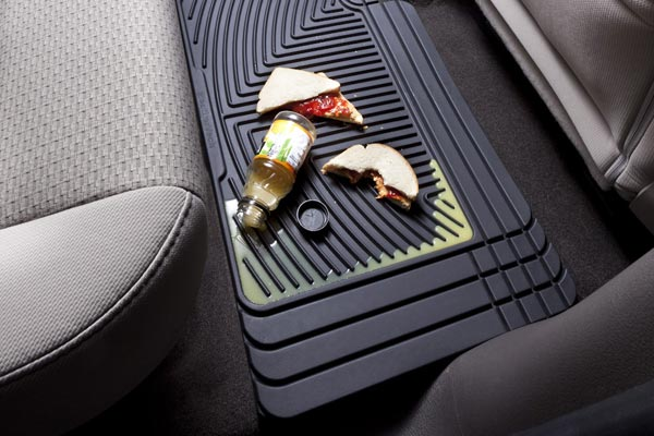 weathertech floor mats showing spill coverage