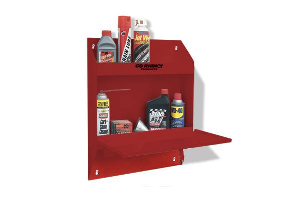 go rhino lockable storage shelf no towel red