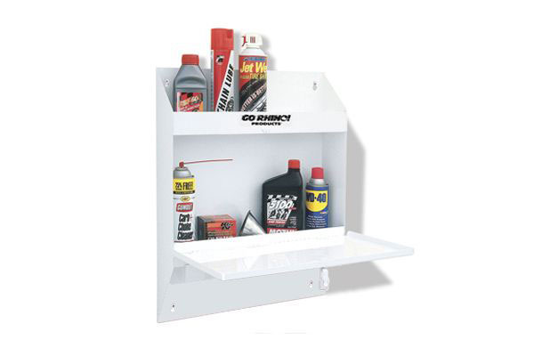 go rhino lockable storage shelf no towel white