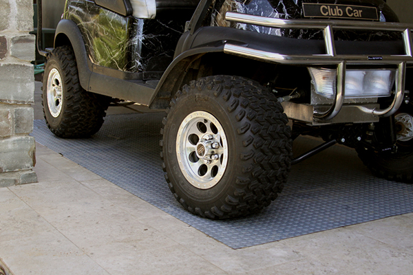 park smart diamond deck under golf cart