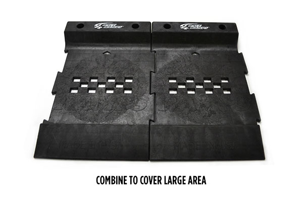 race ramps pro stop parking mat combined