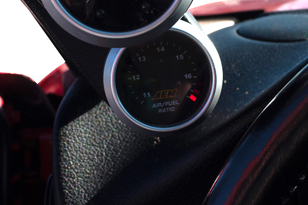 aem wideband uego air fuel ratio gauge installed 3000gt