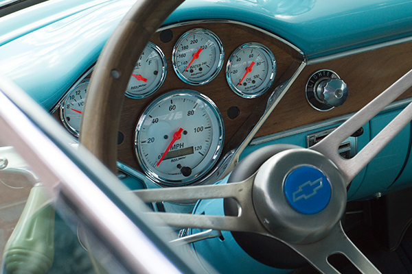 autometer street rod arctic white gauges chevy wood dash lifestyle