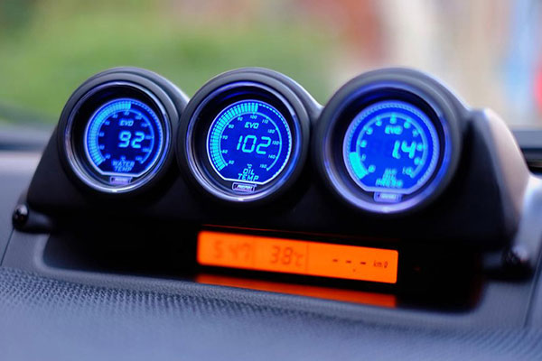 prosport evo gauges installed