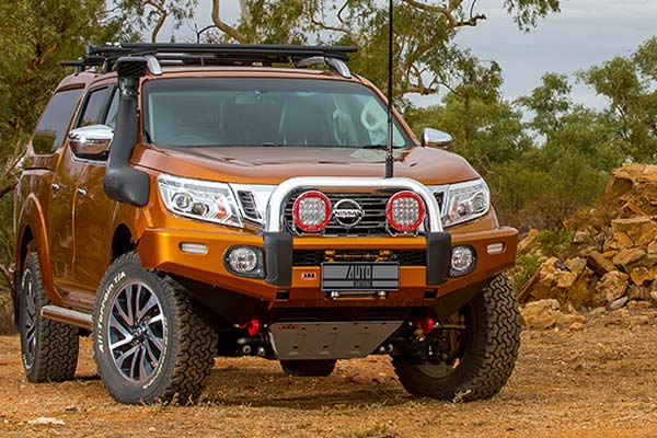 nissan pickup with arb bull bar