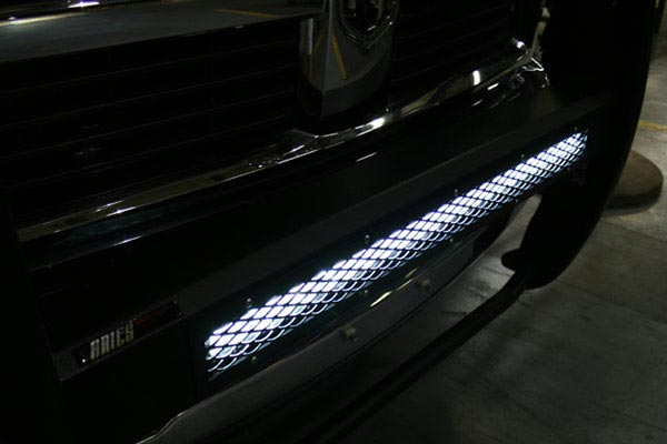 aries pro series grille guard light on