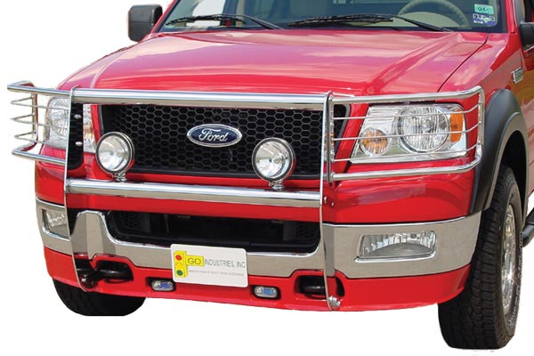 go industires knockdown grille guard chrome