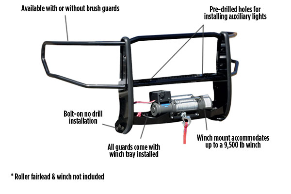 go rhino winch guard features