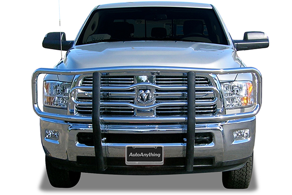 luverne tubular grille guard ram installed