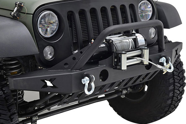 proz premium rock crawler jeep front bumper installed 2