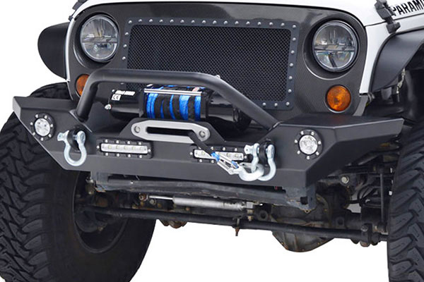 proz premium rock crawler jeep front bumper installed