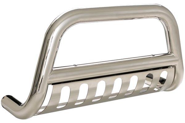 smittybilt grille saver bull bar silver
