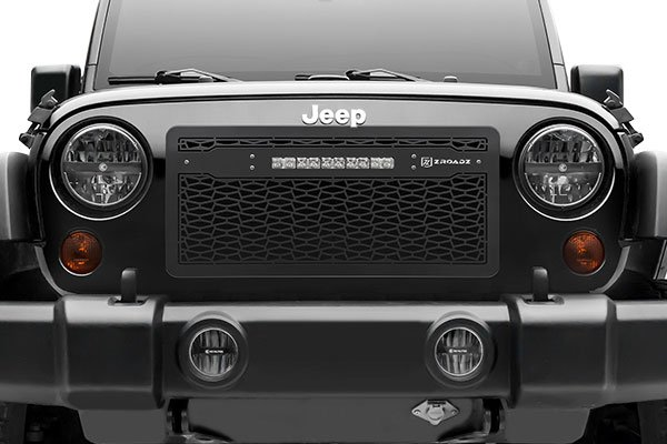 t rex zroadz series led light grille jeep