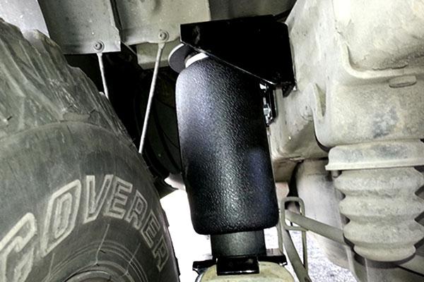 air lift air bag installed next to bump stop