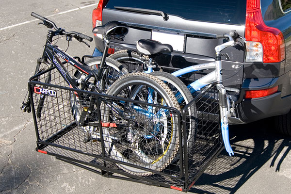carpod cargo carrier with bikes
