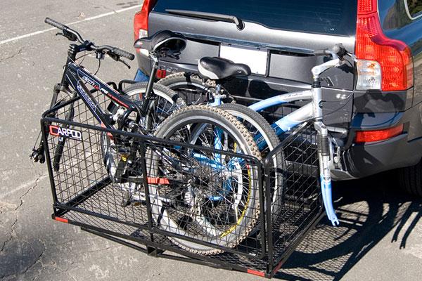 carpod cargo carrier with bikes