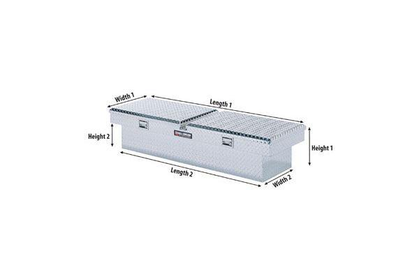 deflecta shield single lid truck toolbox diagram