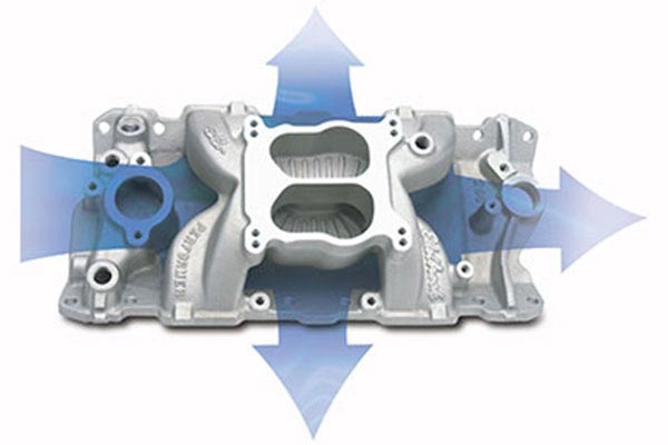 edelbrock performer air gap intake manifolds 1