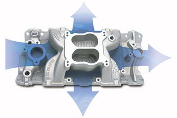 edelbrock performer air gap intake manifolds 1