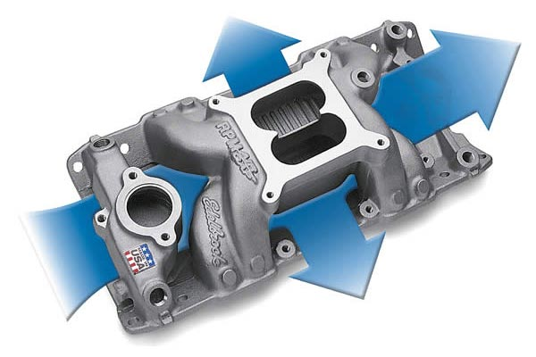 edelbrock performer rpm air gap intake manifolds 1