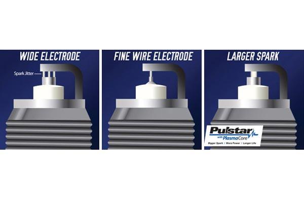 pulstar spark plugs electrode