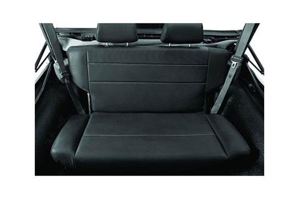 bestop trailmax ii fold tumble rear jeep seats installed