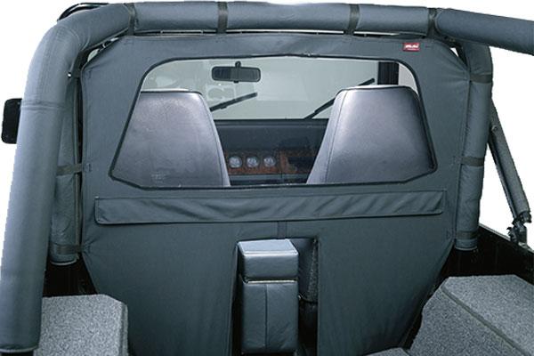 bestop windjammer air flow deflector interior detail