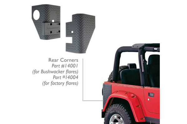 bushwacker trail armor front and rear corners rear corners
